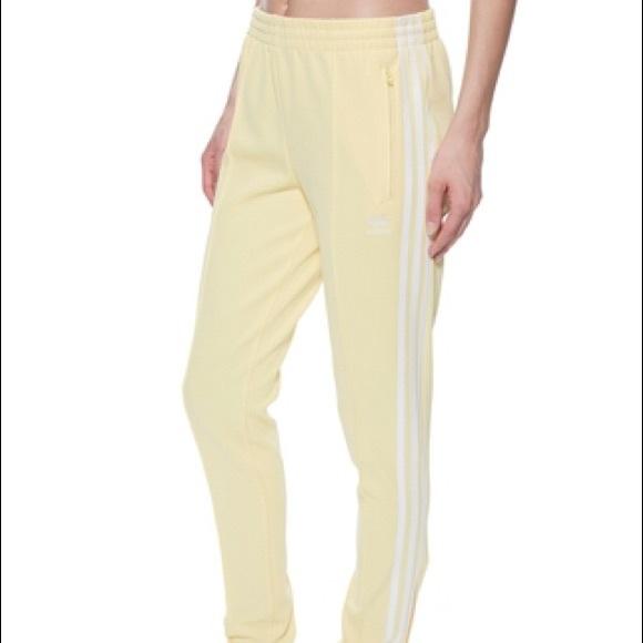 Adidas Superstar Track Pants CE2405 Yellow & Blue | abhaywear